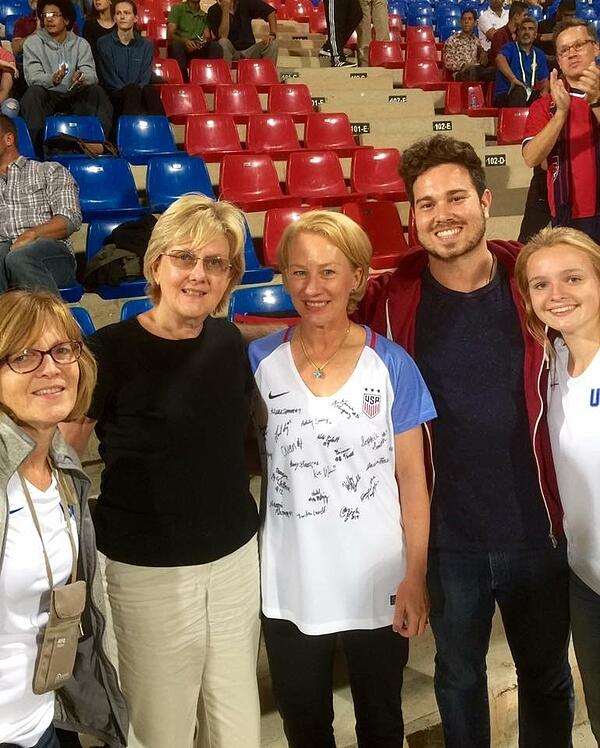 Tori and Family at the World Cup
