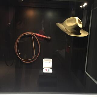 Indiana Jones' hat and whip