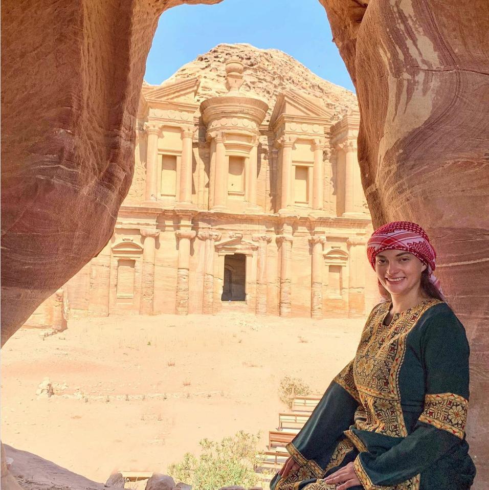Jen in Petra, Jordan