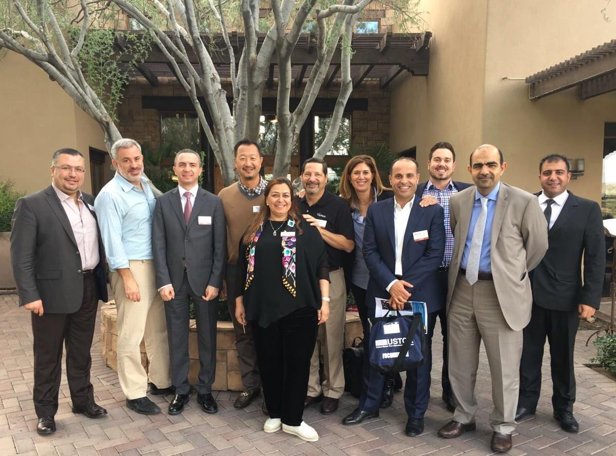 Members of Tourism Cares, Jordan Tourism Board, and Jordan Inbound Tour Operators Association (JITOA) after announcing the partnership